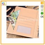 カスタム高品質のPUの革カバーが付いている贅沢なハードカバーのノート