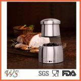 Ws-Pg013 Acero inoxidable Sal y pimienta Grinder / molino de pimienta con finura ajustable