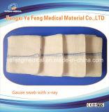 Spugna assorbente rilevabile 100% della garza dei raggi X medici del cotone