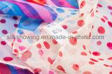 Шарф нестандартной конструкции 100% способа цветастый Silk шифоновый