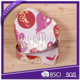 심혼 모양 디자인 직물은 초콜렛을%s 빈 상자를 덮었다