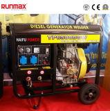 охлаженный воздухом молчком тепловозный электрический генератор портативная пишущая машинка силы 2kw/2kVA-10kw/10kVA