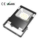 La venta caliente 20W SMD adelgaza el reflector al aire libre negro del LED