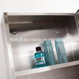 Шикарный изогнутый шкаф ванной комнаты нержавеющей стали конструкции (7026)