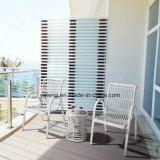 Moderner aus Weiden geflochtener im Freienmöbel-Patio-Garten-Tisch mit starkem Aluminiumrahmen (YT668)