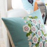 Cuscini decorativi blu di tela del cotone economico della fabbrica