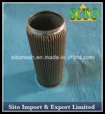 Filtro do engranzamento de fio do aço inoxidável, filtro do cartucho do aço inoxidável