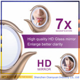Hot Selling LED Makeup Mirror Lighted Double Sides 1X / 7X Magnifying Makeup Mirror com luz LED