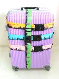 Cinta de nylon impressa da bagagem do poliéster do jacquard com curvaturas plásticas