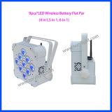Luz sem fio da PARIDADE da bateria 9PCS*15W do diodo emissor de luz DMX