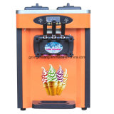 Máquina del helado del acero inoxidable de tres sabores