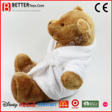 Urso da peluche do brinquedo do luxuoso no Bathrobe