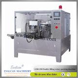 Anacarde automatique, machine à emballer rotatoire de noix avec le peseur de vérification