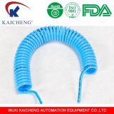 Bleu spiralé de tube d'unité centrale de polyuréthane