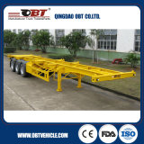 Tri-Axles Skeletal Container Truck Semi Trailer con Air Suspension