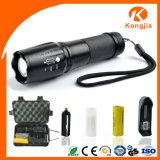 가장 밝은 휴대용 급상승 초점 좋은 품질 10W Xml T6 LED 수동 재충전용 플래쉬 등
