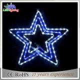 Star Shape LED Luzes de Natal / Star Christmas Motif Rope Lights