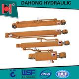 Cilindro hidráulico de aço da máquina escavadora com encurtamento do sistema