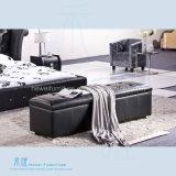 高品質の寝室の家具(HW-KF328BS)の快適な現代ベッドの腰掛け