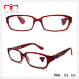 Damen Plastic Reading Glasses mit Diamond Decoration und Laser (WRP507283)