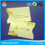 Buen diseño del fabricante profesional que bloquea la manga protectora de la tarjeta