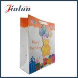 El brillo de la cuerda de la cinta modifica la bolsa de papel para requisitos particulares de gama alta del cumpleaños 3D