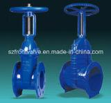 A haste de aumentação do ferro de molde/ferro Ductile flangeou válvula de porta da extremidade