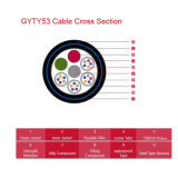 鋼鉄Tape Longitudinal Armoured 2PE Sheath Fiber Optic Cable GYTY53
