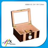 Роскошная деревянная коробка сигары с Humidor и подносом