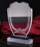 Premio di cristallo libero su ordinazione del trofeo della piastra