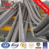 Q235 Steel Galvanized 15m 20m 30m Street Light Poles с Cross Arm