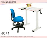 AluminiumのDouble Columnの学校Furniture Student Desk Height Adjustable