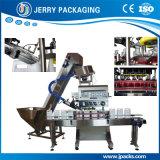 En línea automático de la fuente de la fábrica torciendo la máquina que capsula del casquillo plástico y de aluminio