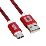 다른 빨리 케이블을 비용을 부과하는 색깔에 의하여 땋아지는 비용을 부과 데이터 케이블 USB C