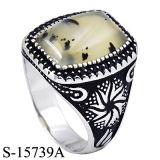 Modelos novos 925 anéis de prata micro Seting CZ dos homens com pedra