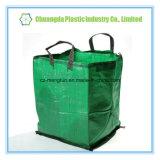 2 boucles réutilisent le sac tissé par pp de sac de FIBC pour la perte ou les vêtements avec à couvercle serti
