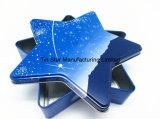Rectángulo del estaño del regalo de la dimensión de una variable de la estrella para decoración del regalo de /Xmas del chocolate/del caramelo