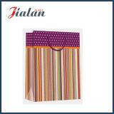 광택 있는 박판으로 만들어진 아트지 줄무늬 매일 쇼핑 선물 종이 핸드백