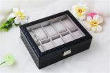 Caixa de relógio Reino Unido dos homens luxuosos Handmade de couro do plutônio para o homem