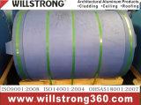 bobine en aluminium enduite d'une première couche de peinture par graines en bois de 0.21mm