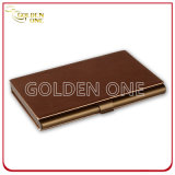 Shiny Design Business Metal & Leather Cardcase de nome