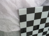 10mm Black and White Square Printing Toughened Glass como Table Top