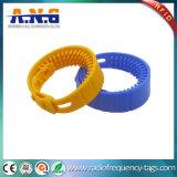 Logo personnalisé par silicones réinscriptibles de bracelets d'IDENTIFICATION RF d'ISO14443A NFC