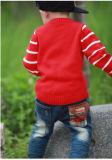 가을 둥근 목 스웨터 긴 소매 아기 스웨터