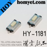 Interruptor do tacto da alta qualidade 3*6*2.5mm com 2pin SMD (HY-1181P)