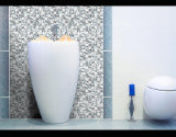 Estilo simple moderno, decoración de la pared, mosaico de cristal brillante de plata (G655013)