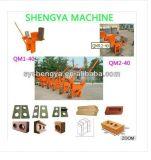 Macchina di collegamento del blocchetto dell'argilla manuale di tecnologia Qmr2-40 della Germania in Africa