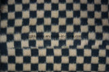 Чернота & ткань шерстей проверки Brown