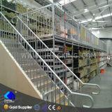 Sistema estrutural de aço do assoalho de mezanino do armazenamento do armazém