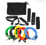 11PCS/Set Latex Resistance Bands Fitness Exercise Elastic Training Tube Rope